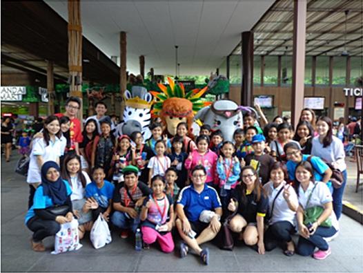 Children outreach activity in River Safari